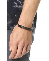 Miansai | Black Lorem Cuff Bracelet for Men | Lyst