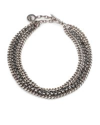 Giles & Brother | Metallic Crystal Cup Chain Necklace | Lyst