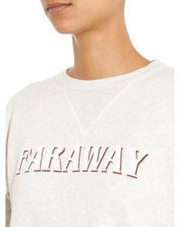 Étoile Isabel Marant - White Eric Faraway-Print Sweatshirt - Lyst