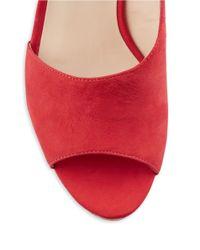 Nine West | Red Adyssinian Wedge Sandals | Lyst