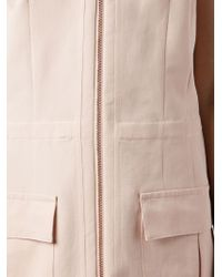 Cedric Charlier | Pink Zip-Front Dress | Lyst