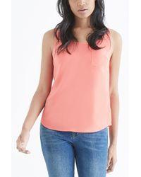 Oasis - Pink Plain Pocket Vest - Lyst