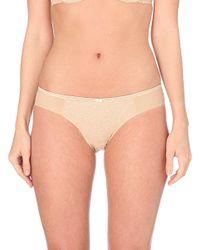 DKNY | Natural Super Sleeks Mesh And Lace Bikini Briefs | Lyst