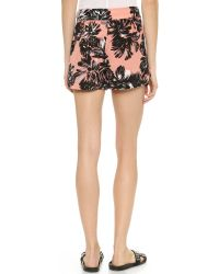 Rebecca Taylor - Pink Splashy Flower Shorts - Woodrose - Lyst