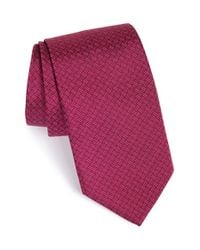 David Donahue - Purple Geometric Silk Tie for Men - Lyst