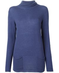 Woolrich - Blue 'renoir' Roll Neck Sweater - Lyst