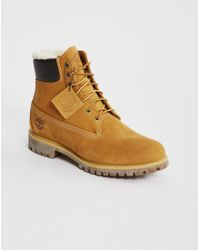 "Timberland - Brown Heritage 6"" Warm Lined Boot Tan for Men - Lyst"