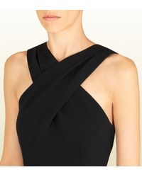 Gucci - Black Cross Top Dress - Lyst