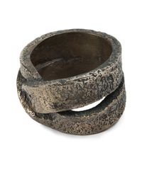 Tobias Wistisen | Metallic 'leather Twist' Ring for Men | Lyst
