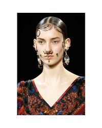 Givenchy - Metallic Crystal-embellished Nose Ring - Lyst