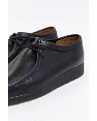 Clarks - Black Wallabee Leather Shoe for Men - Lyst