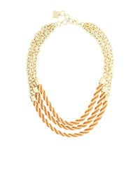 BCBGMAXAZRIA | Orange Twisted Seed Bead Necklace | Lyst