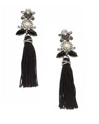 Marchesa | Multicolor Jeweled Tassel Earrings | Lyst