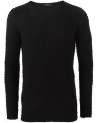 Avant Toi - Black Round Neck Sweater for Men - Lyst