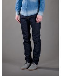 Edwin | Blue 'Ed55 Raw Selvage' Relaxed Jean for Men | Lyst