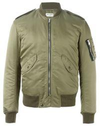 Saint Laurent - Green Classic Bomber Jacket for Men - Lyst