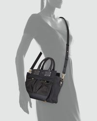 Rag & Bone - Pilot Small Leather Satchel Bag Black - Lyst