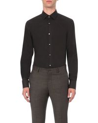 BOSS - Black Jenno Slim-fit Single-cuff Shirt for Men - Lyst