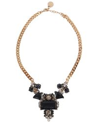Anton Heunis | Blue Carla Swarovski Pale Gold-plated Necklace | Lyst