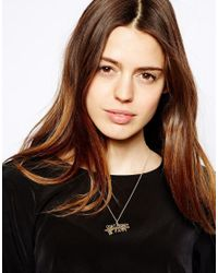 ASOS - Metallic Dont Worry Be Happy Necklace - Lyst