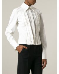 Antonio Marras - White Front Frilly Panels Shirt - Lyst
