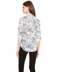 Club Monaco - Blue Mori Shirt - Lyst