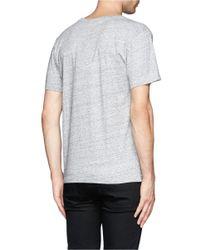 Maison Kitsuné - Gray 'electric' T-shirt for Men - Lyst