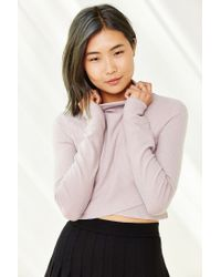 Silence + Noise - Pink Ansley Crossover Top - Lyst