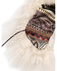 Etro - White Shearling Collar - Lyst