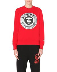 Aape | Red Branded-print Sweatshirt | Lyst