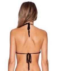 Anna Kosturova - Black Mesh Halterneck Bikini Top - Lyst