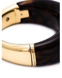 Michael Kors - Metallic Tortoise Bangle Bracelet - Lyst