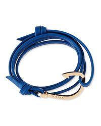 Miansai | Blue Hook Leather Bracelet | Lyst