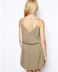 Aryn K. - Brown Embellished Mini Dress with Spaghetti Straps - Lyst
