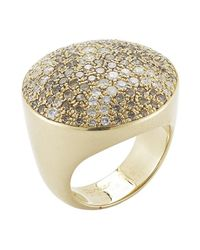 Cartier | Metallic Pre-Owned: 18Ky Gold And Diamond Nouvelle Vague Ring | Lyst