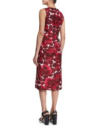 Marc Jacobs - Purple Hibiscus-print Sleeveless Dress - Lyst