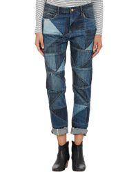 Étoile Isabel Marant | Blue Patchwork Dillon Jeans | Lyst