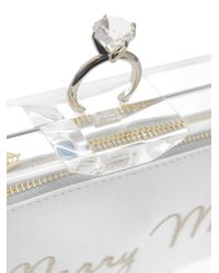 Charlotte Olympia - White Pandora Marry Me Clutch - Lyst