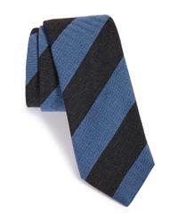 Todd Snyder - Black Stripe Wool & Silk Tie for Men - Lyst