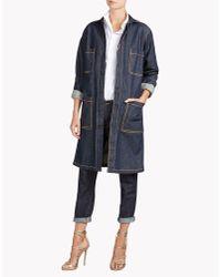 DSquared² | Blue Denim Coat | Lyst