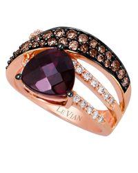 Le Vian | Purple Kt. Strawberry Gold Rhodolite Diamond Ring | Lyst