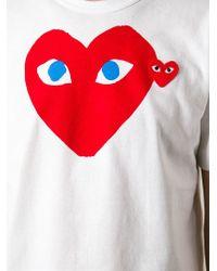 Play Comme des Garçons | White Printed Heart T-Shirt for Men | Lyst