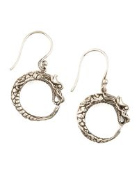 John Hardy - Metallic Dragon Hoop Earrings - Lyst