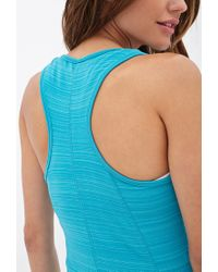 Forever 21 - Blue Active Athletic Training Tank - Lyst