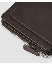 AllSaints - Brown Cleat Wallet for Men - Lyst