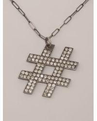 Kelly Wearstler - Metallic 'hashtag' Necklace - Lyst