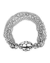 John Hardy | Metallic Kali Silver Multi-row Bead-station Bracelet | Lyst