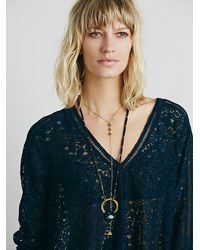 Free People - Blue Full Moon Lace Tunic - Lyst