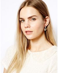 Ted Baker   Green Storm Crystal Chain Earrings   Lyst