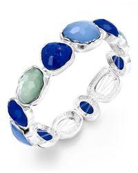 Charter Club | Silver-tone Blue Stone Stretch Bracelet | Lyst